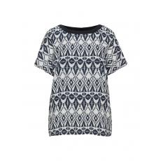 Allover-Print-Blusenshirt aus Leinen