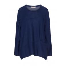 Asymmetrischer Baumwollmix-Pullover