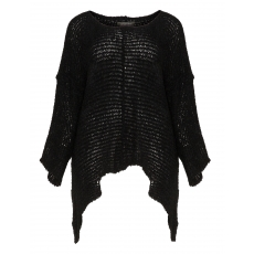 Asymmetrischer Bouclé-Pullover