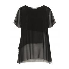 Asymmetrisches Shirt im Layeringlook
