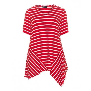 Asymmetrisches Streifen-Longshirt