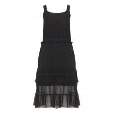 Ausgestelltes Chiffon-Kleid mit Bommeln