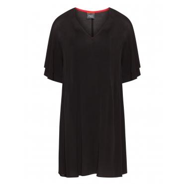 Ausgestelltes Crêpe-Kleid mit Volants