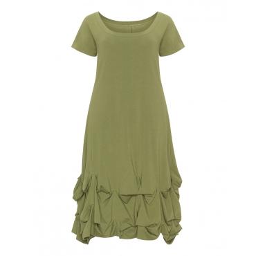 Ausgestelltes Kleid mit drapiertem Saum