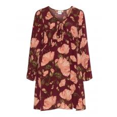 Ausgestelltes Kleid mit Rüschen