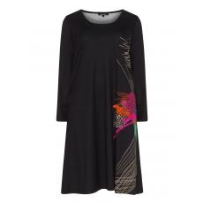 Ausgestelltes Kleid mit seitlichem Print