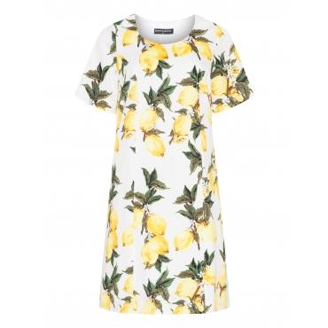 Ausgestelltes Kleid mit Zitronenmuster