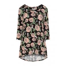 Ausgestelltes Shirt mit Blumen-Print