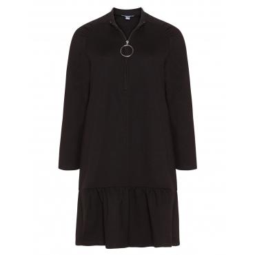 Ausgestelltes Shirtkleid mit Ring-Zipper