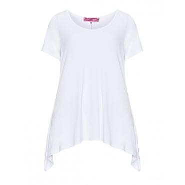 Basic-Jerseyshirt aus Viskosemix