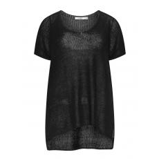 Basic-Strick-Pullover mit Kurzarm
