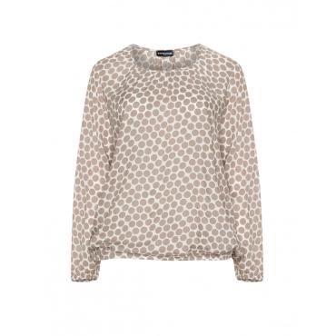 Batist-Blusenshirt mit Polka-Dots