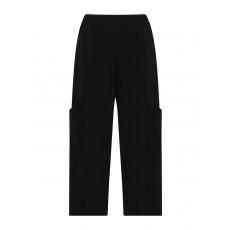 Batist-Hose im Knitter-Look mit Taschen