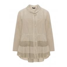 Baumwoll-Jacke mit mehrlagigem Saum