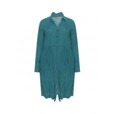 Baumwoll-Mantelkleid im Knitter-Look