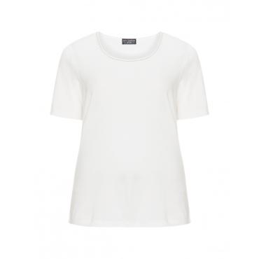 Baumwoll-T-Shirt mit Ausschnitt-Detail