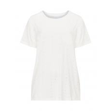 Baumwoll-T-Shirt mit Lochmuster