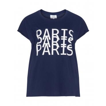 Baumwoll-T-Shirt mit Statement-Print