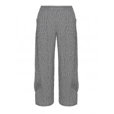 Baumwollmix-Hose mit Muster