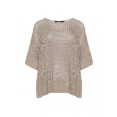 Baumwollmix-Pullover mit Pailletten