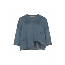 Baumwollmix-Pullover mit Rollkanten