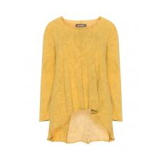Baumwollpullover mit Kontrast