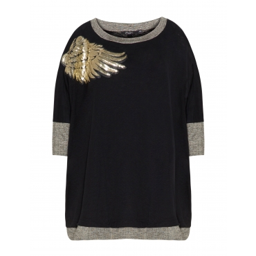 Baumwollshirt mit glänzenden Details