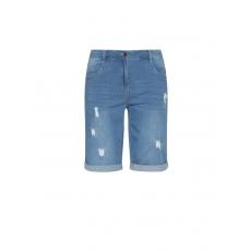 Bermuda-Jeans mit Destroyed-Effekten