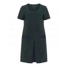 Bicolour-Kleid mit Kellerfalte