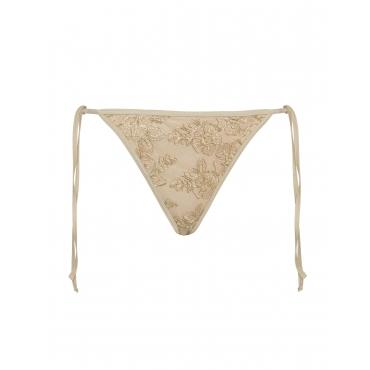 Bikinihose aus Spitze mit Bindebändern