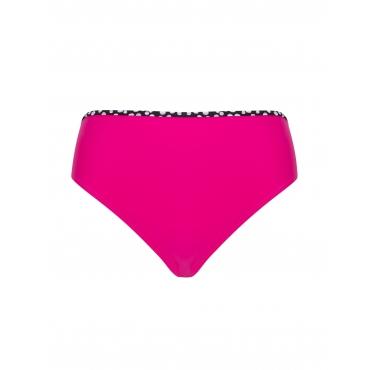 Bikinihose mit gepunktetem Saum