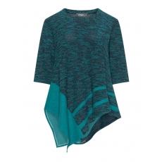 Bouclé-Patchwork-Shirt aus Baumwollmix
