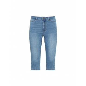 Capri-Jeans im Washed-out-Look
