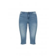 Capri-Slim-Fit-Jeans mit Waschung