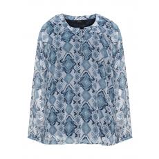 Chiffon-Blusenshirt mit Allover-Print