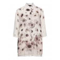 Chiffon-Hemdbluse mit Floral-Print