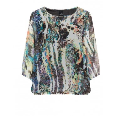 Chiffonshirt mit Allover-Animal-Print