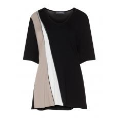 Colour-Blocking-Tunika mit Zipper