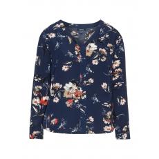 Crêpe-Bluse mit Allover-Blumen-Print