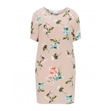 Crêpe-Kleid mit Blumen im Nostalgie-Look