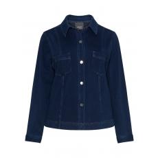 Elastische Jacke in Denim-Optik