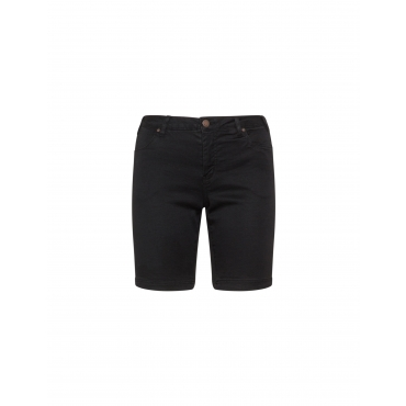 Elastische Jeans-Bermuda-Shorts