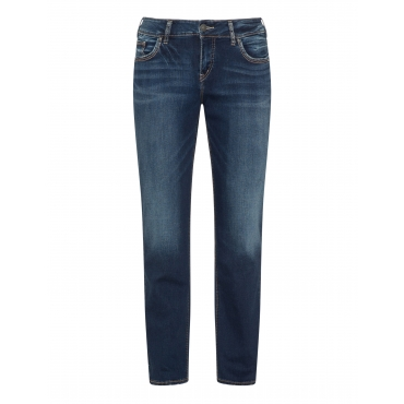 Elastische Jeans im Washed-out-Look