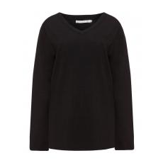 Feinstrick-Pullover mit V-Ausschnitt