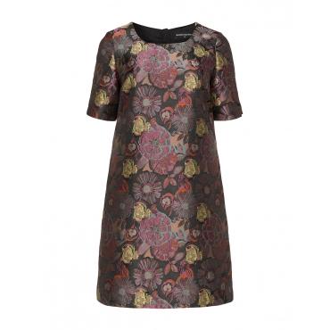 Florales Jacquard-A-Linien-Kleid Kim