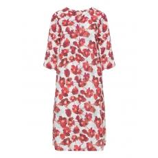 Florales Leinen-Sommerkleid