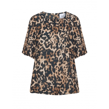 Georgette-Shirt mit Animal-Print