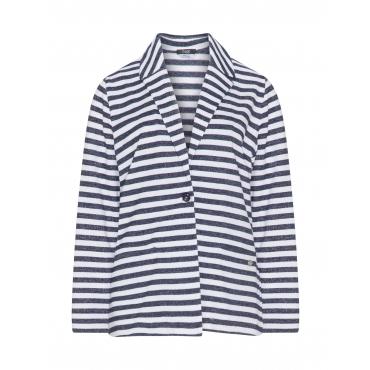Gestreifter Blazer aus Sweatshirtstoff