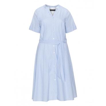 Gestreiftes Baumwoll-Sommerkleid