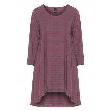 Gestreiftes Jerseyshirt aus Baumwollmix